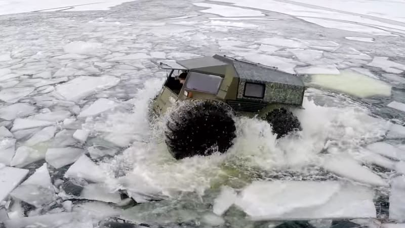 This crazy Russian truck-thing is cute and unstoppable