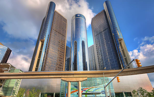 General Motors' Detroit headquarters at the Renaissance Center