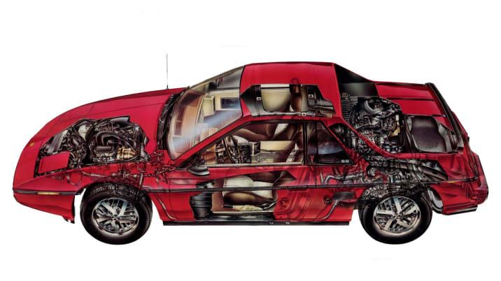 1984 Pontiac Fiero cutaway