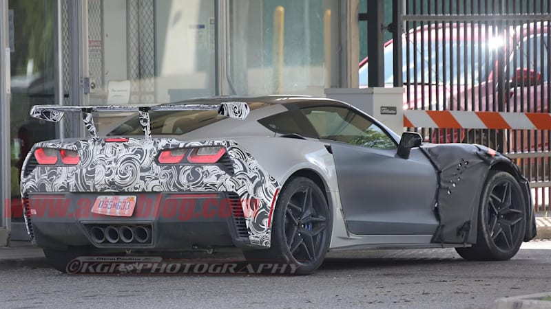 Our clearest look yet at the C7 Chevy Corvette ZR1's rear end
