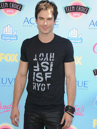 UNIVERSAL CITY, CA - AUGUST 11:  Actor Ian Somerhalder attends the 2013 Teen Choice Awards at Gibson Amphitheatre on August 11, 2013 in Universal City, California.  (Photo by Steve Granitz/WireImage)