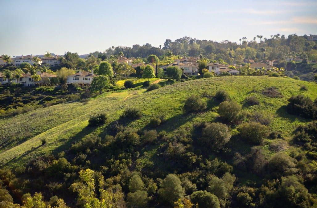 Orange Conty hillside homes