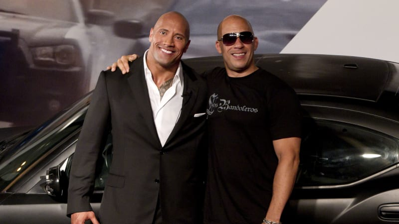 The feud between Dwayne Johnson and Vin Diesel may be a WWE stunt