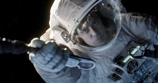 GRAVITY 2013 Warner Bros film with George Clooney