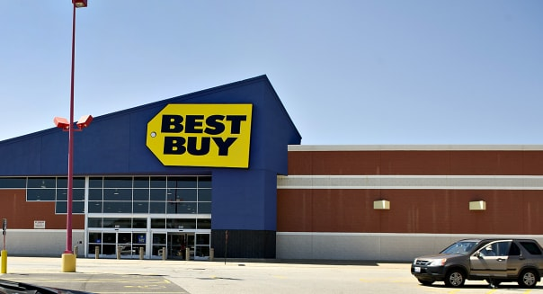 Views Of Best Buy As The Retailer Has Credit Rating Cut To Junk By Standard & Poor's