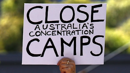 Protesters in Australia want detention camps closed