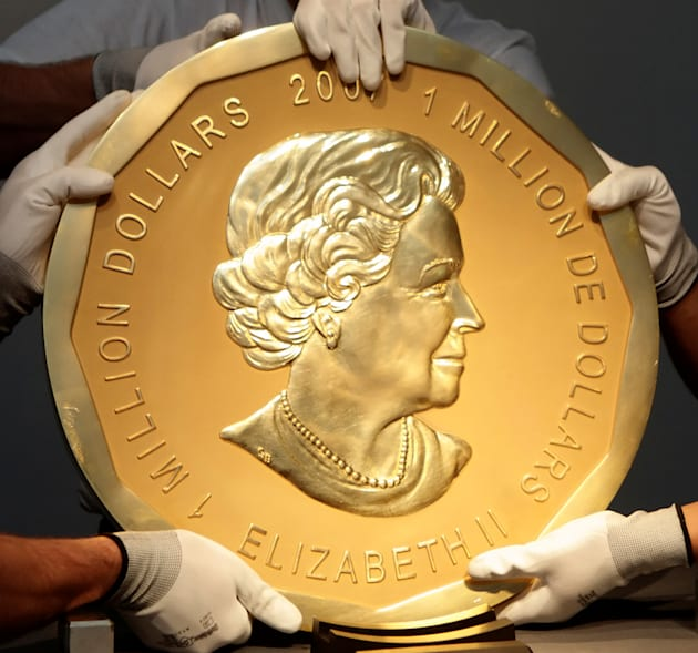 Berlin police make arrests over giant gold coin theft