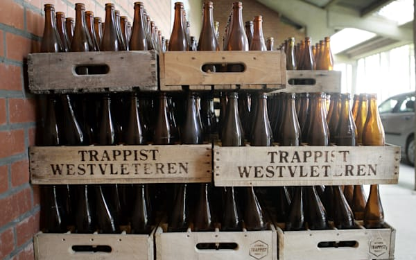 Westvleteren beer crates in Belgium