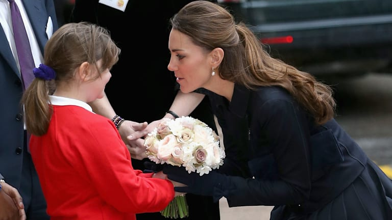 The wind may not be her friend, but Kate Middleton still looked flawless this morning