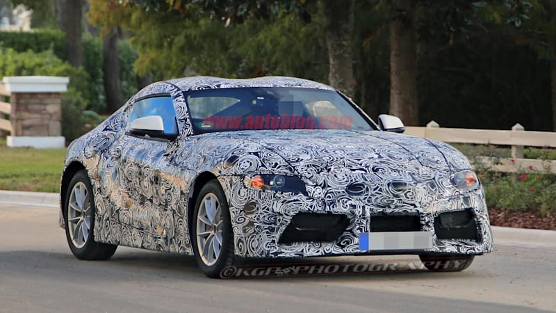 Here's the new Toyota Supra and its FT-1-inspired tail - Autoblog