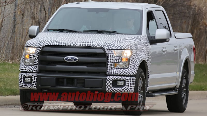 The 2018 Ford F-150 shows its face yet again. This time the spy shots ...