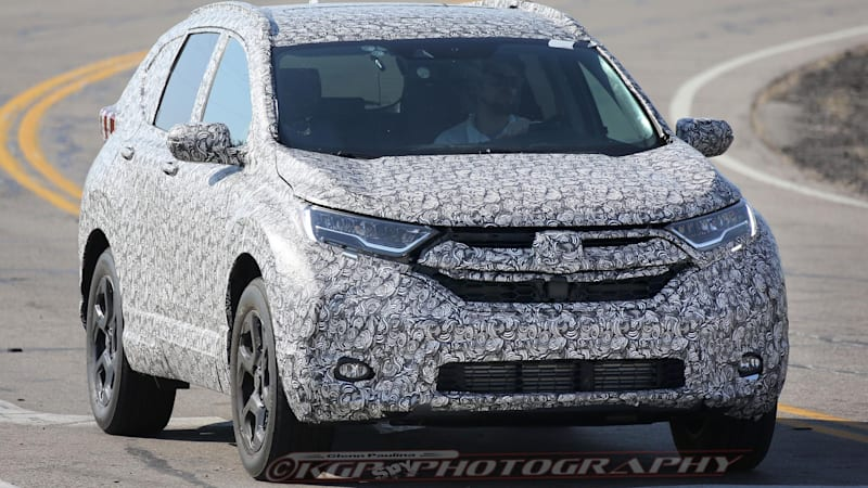 Honda CR-V spied looking curvy and sophisticated