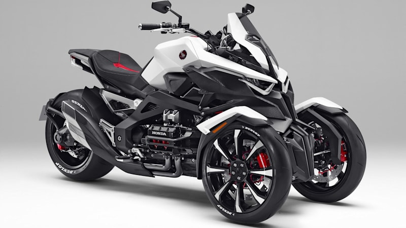 The Honda Neowing is a future-retro GoldWing trike