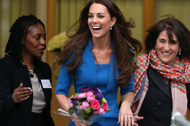 The Duchess Of Cambridge Attends The ICAP Art Room Opening At Northolt High School