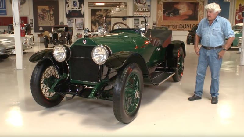 Jay Leno explores his 98-year old 1918 Stutz Bearcat