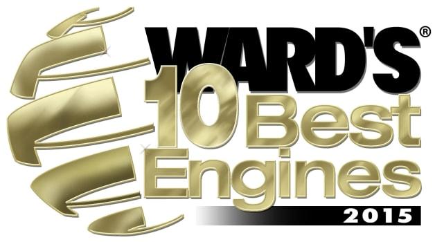 2015 Ward's 10 Best Engines graphic