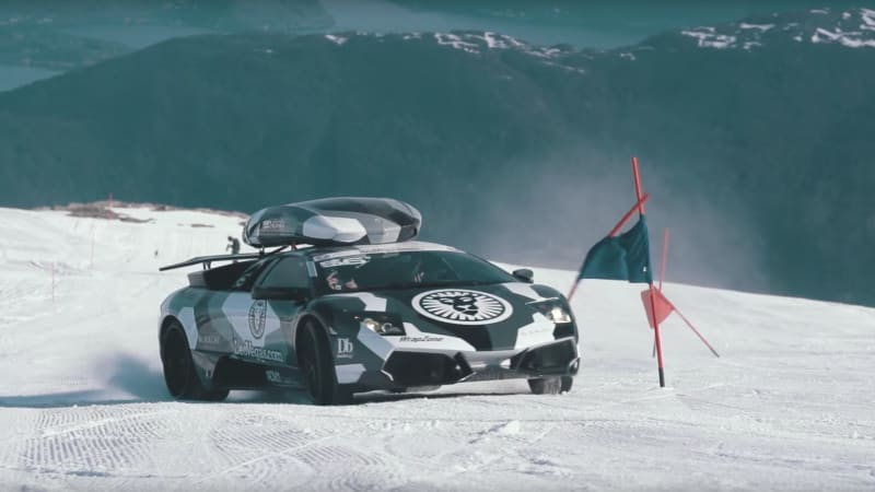 jon olsson drives his lambo up a glacier because why not autoblog. Black Bedroom Furniture Sets. Home Design Ideas