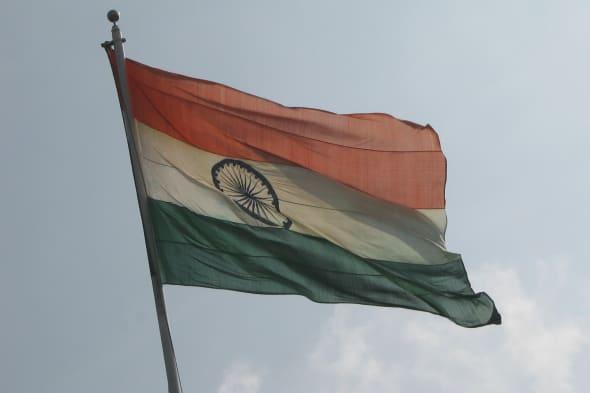 Indian Flag at Sriperambdur