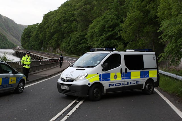Two children aged two and three die after vehicle plunges into loch