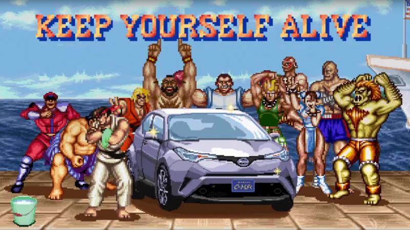 The Toyota C-HR is the ultimate Street Fighter cheat code in this Japanese ad