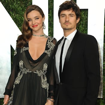 2013 Vanity Fair Oscars Viewing and After Party (From left, model Miranda Kerr and actor Orlando Bloom arrive at the 2013 Vanity