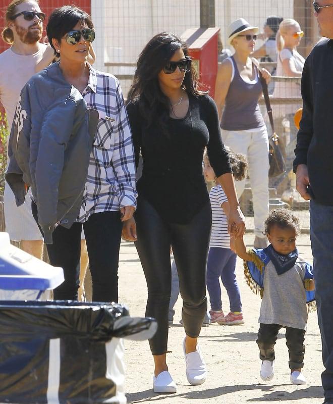 Kim Kardashian North West pumpkin patch