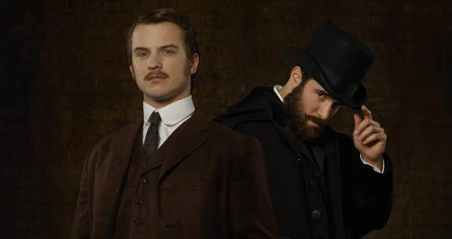 TIME AFTER TIME - ABC's €œTime After Time stars Freddie Stroma as H.G. Wells and Josh Bowman as John Stevenson. (ABC/Bob D€™Amico)