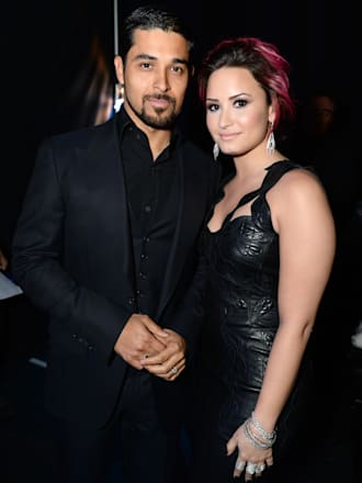 Demi Lovato and Wilmer Valderrama at unite 4 humanity awards
