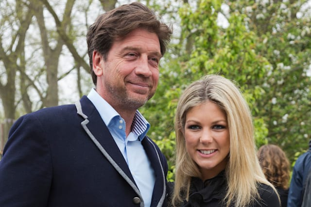 Presenter Nick Knowles and wife
