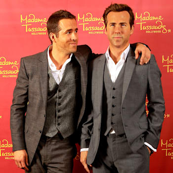 Ryan Reynolds Poses Side By Side With His Madame Tussauds Hollywood Wax Figure