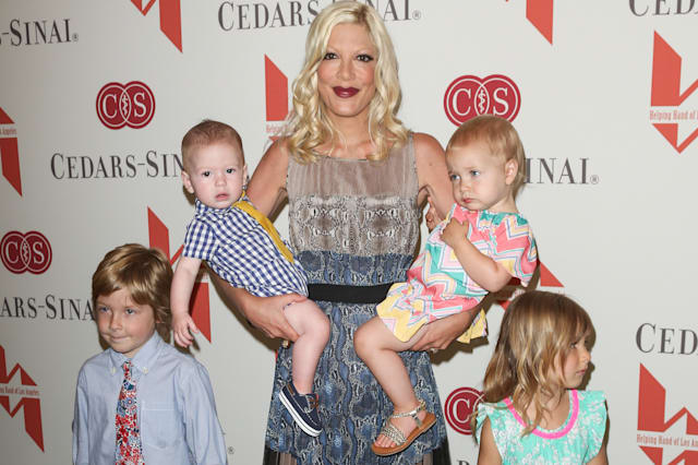 Tori Spelling and children