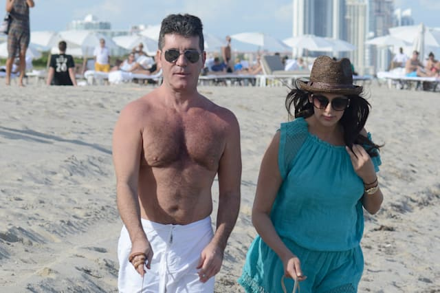 Simon Cowell and Lauren Silverman in Miami
