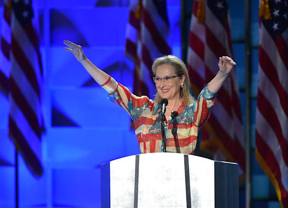 Meryl Streep's patriotic DNC dress stole the show