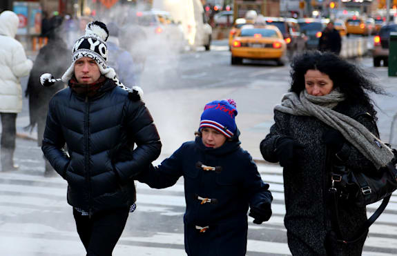 Polar Vortex drops over United States and Canada