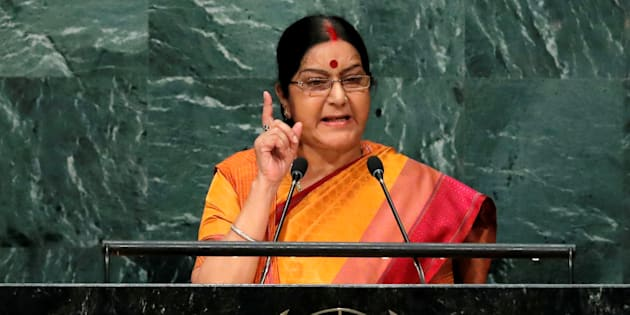 Sushma fumes as Amazon sells Tricolour mats
