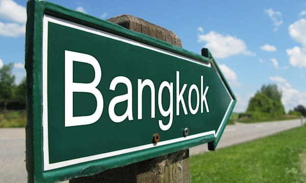 BANGKOK road sign
