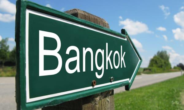 BANGKOK road sign