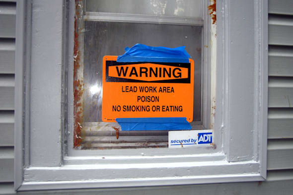 window, living room picture window - 99 - replacement - lead paint warning sign - IMG_3111 - (20110627)