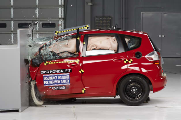 Honda Fit small-overlap crash test