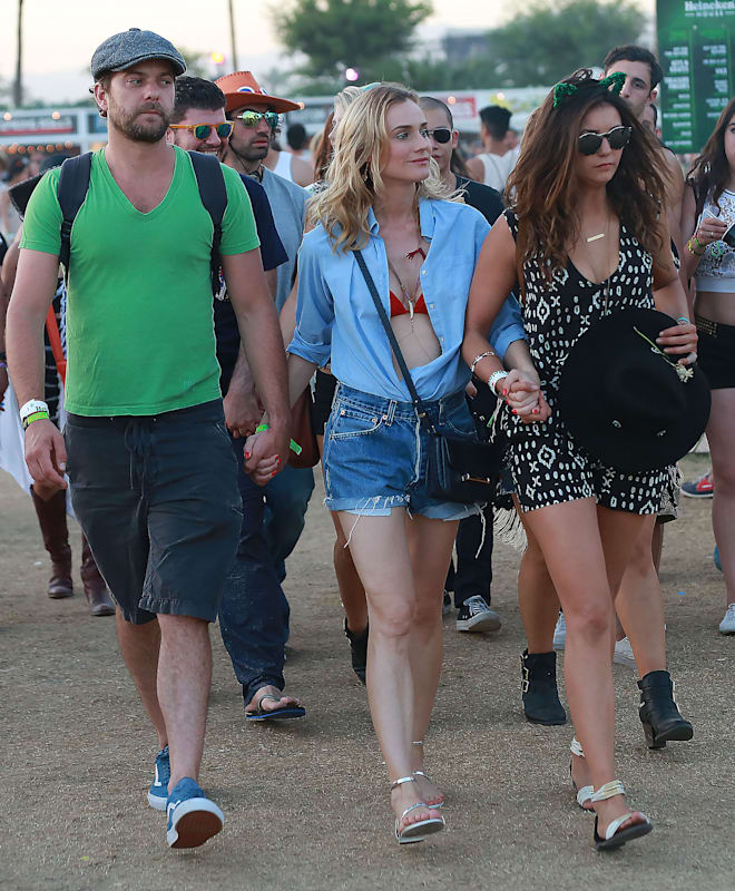 51715201 Celebrities attend Day 2 of the second weekend of The Coachella Valley Music and Arts Festival in Indio, California on April 18, 2015. Celebrities attend Day 2 of the second weekend of The Coachella Valley Music and Arts Festival in Indio, California on April 18, 2015.Pictured: Joshua Jackson, Diane Kruger, Nina Dobrev FameFlynet, Inc - Beverly Hills, CA, USA - +1 (818) 307-4813