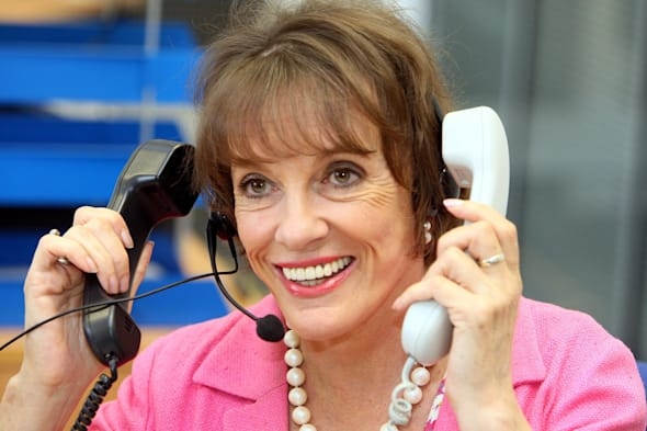 Esther Rantzen visits Childline offices