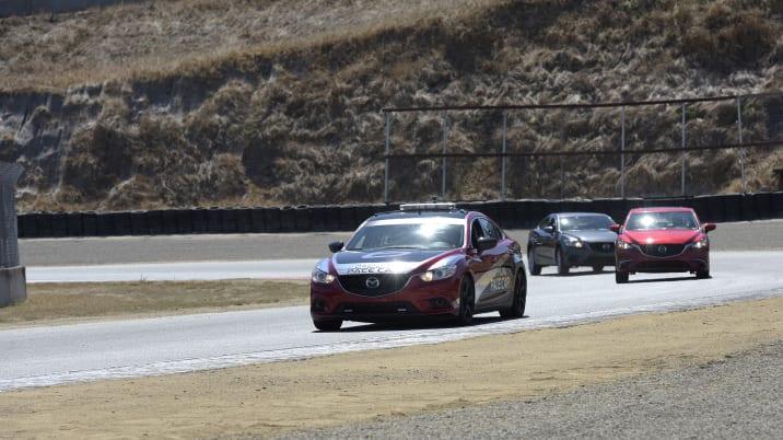 Mazda G-Vectoring Control demonstration at Mazda Raceway Laguna Seca