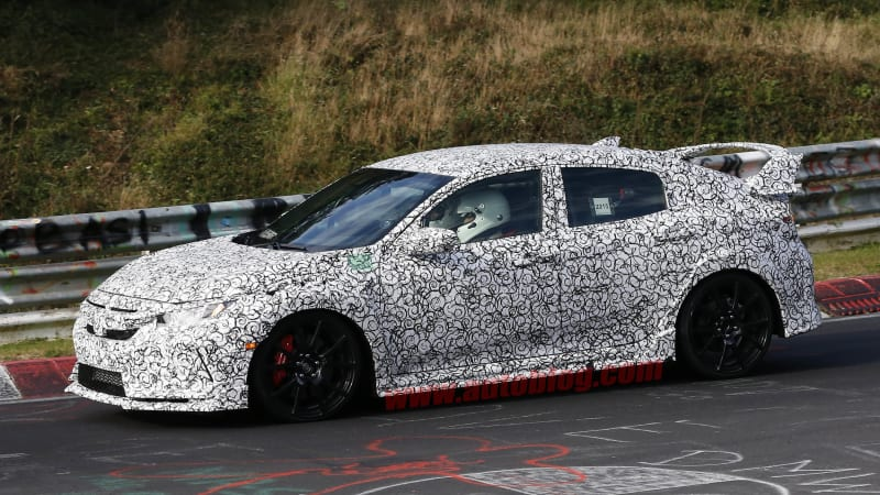 Honda Has Been Spotted Testing The Next Generation Civic Type R At The  Nurburgring, Complete With A Monstrous Rear Wing And Even More Power Than  The Current ...