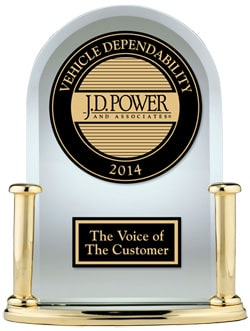 JD Power Vehicle Dependability Award