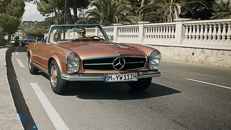 Mercedes benz now offers a classic car travel program for Old mercedes benz parts