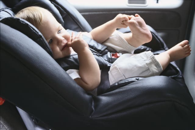 Infant Sitting in Car Seat