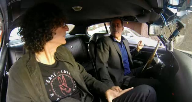 howard stern latest in seinfeld 39 s passenger seat for cicgc. Black Bedroom Furniture Sets. Home Design Ideas