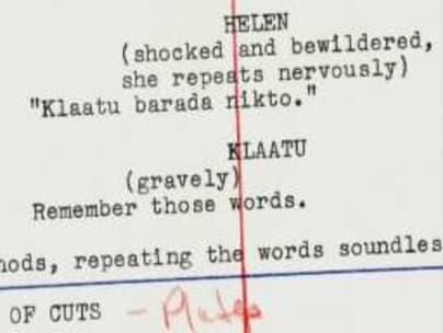 Script-showing-Klaatu-barada-nikto