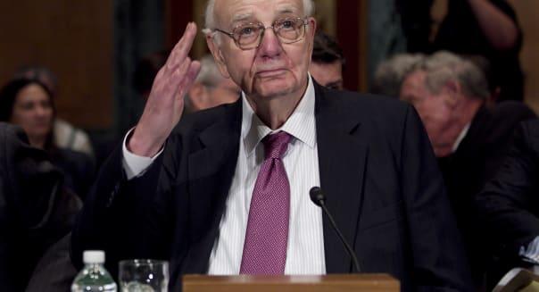Former Fed Chairman Paul Volcker At Senate Banking Hearing