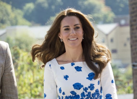 Kate recycles our all-time favorite LK Bennett dress